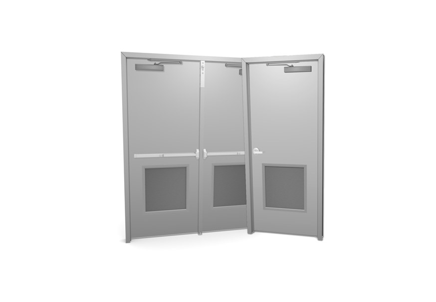 Commercial Metal Doors With Louvers Marvin S Garage Doors