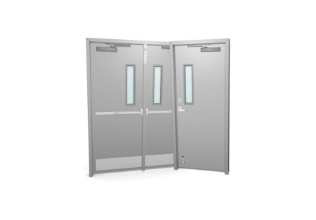Commercial hollow metal doors marvins garage doors commercial metal doors with glass kits planetlyrics Images