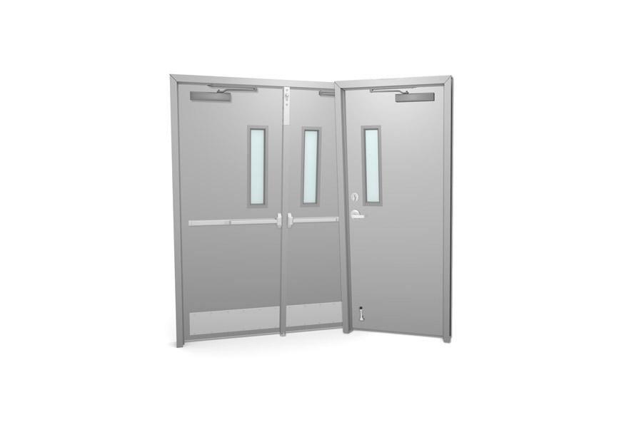 Commercial Metal Doors With Glass Kits overhead doors