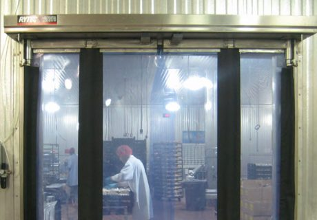 Fast-Fold Pneumatic Stainless Steel overhead doors