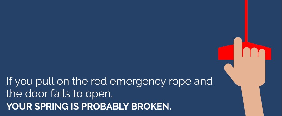 red emergency rope garage